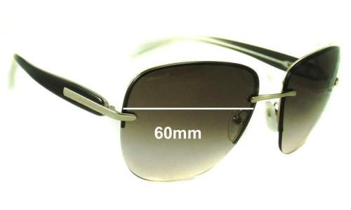 Sunglass Fix Sunglass Replacement Lenses for Prada SPR50O - 60mm Wide