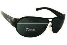 Sunglass Fix Sunglass Replacement Lenses for Prada SPR57G - 70mm lens