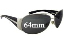 Sunglass Fix Sunglass Replacement Lenses for Prada SPR64I - 64mm Wide