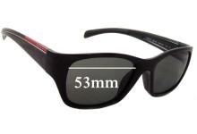 Sunglass Fix Sunglass Replacement Lenses for Prada SPS07I - 53mm Wide