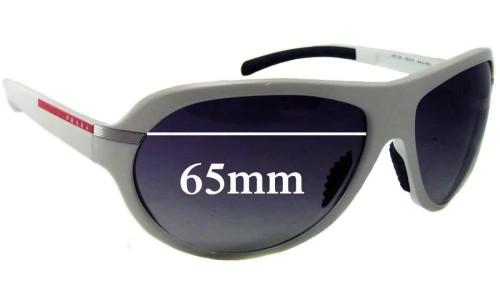Sunglass Fix Sunglass Replacement Lenses for Prada SPS08I - 65mm Wide
