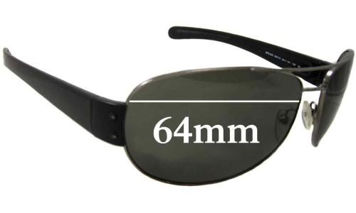 Sunglass Fix Sunglass Replacement Lenses for Prada SPS52G - 65mm wide 45mm tall