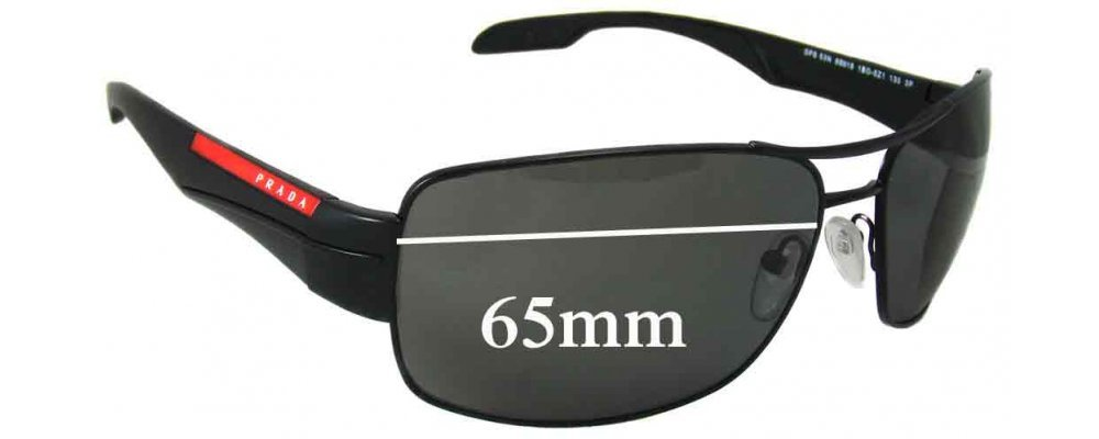 2460553e8b Sunglass Fix Sunglass Replacement Lenses for Prada SPS53N - 65mm Wide