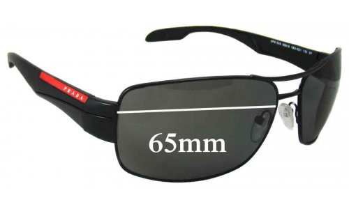 Sunglass Fix Sunglass Replacement Lenses for Prada SPS53N - 65mm Wide