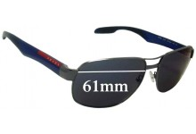 Sunglass Fix Sunglass Replacement Lenses for Prada SPS58N - 61mm Wide