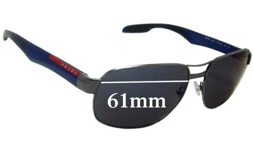 Sunglass Fix Sunglass Replacement Lenses for Prada SPS58N - 61mm Wide