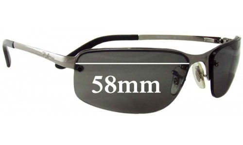 Sunglass Fix Sunglass Replacement Lenses for Ray Ban RAM2062AA - 58mm Wide