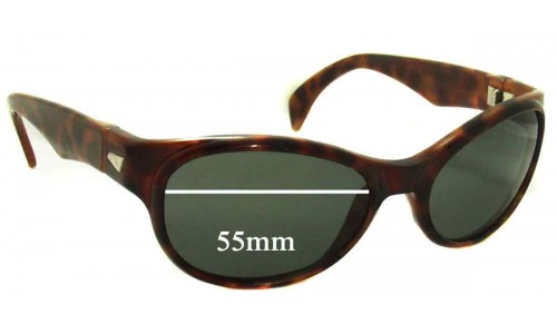 Sunglass Fix Sunglass Replacement Lenses for Ray Ban B&L 00AW - 55mm Wide
