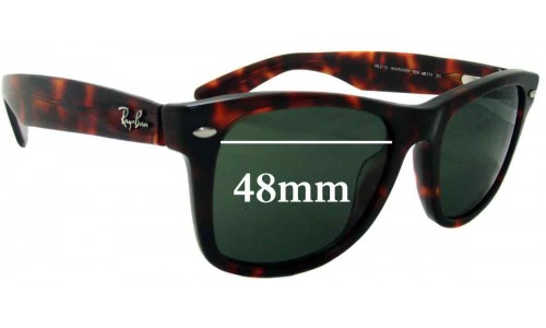 Sunglass Fix Sunglass Replacement Lenses for Ray Ban Outsiders Large Wayfarer RB2113 - 48mm Wide