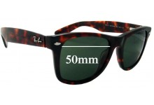 Sunglass Fix Sunglass Replacement Lenses for Ray Ban Outsiders Large Wayfarer RB2113 - 50mm Wide