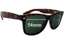Sunglass Fix Sunglass Replacement Lenses for Ray Ban Outsiders Large Wayfarer RB2113 - 54mm Wide