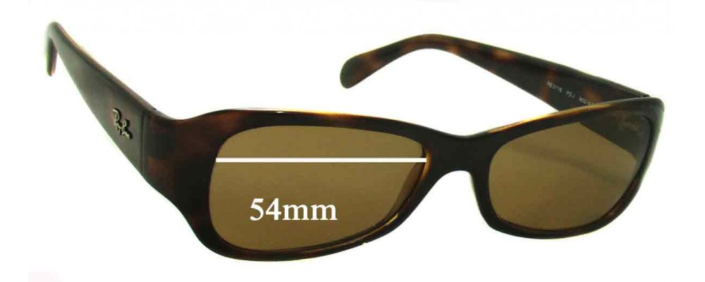 Sunglass Fix Sunglass Replacement Lenses for Ray Ban RB2116 Predator - 54mm Wide