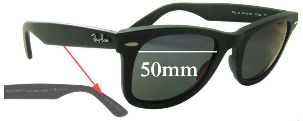 Sunglass Fix Sunglass Replacement Lenses for Ray Ban Wayfarer RB2140 Special Series - 50mm Wide