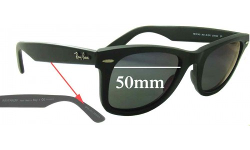 Sunglass Fix Sunglass Replacement Lenses for Ray Ban RB2140 Special Series Wayfarer 50mm wide lenses