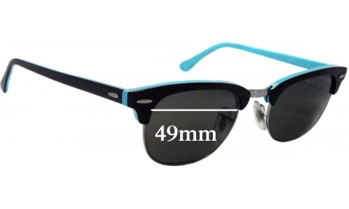 Sunglass Fix Sunglass Replacement Lenses for Ray Ban Clubmaster RB2156 New - 49mm Wide
