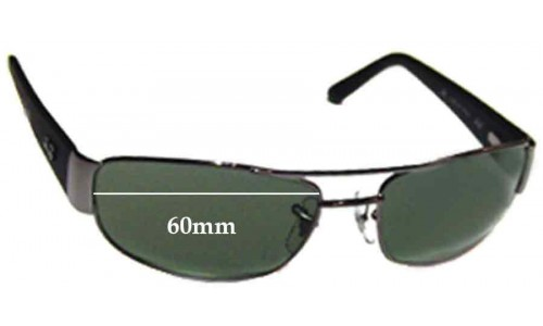 Sunglass Fix Sunglass Replacement Lenses for Ray Ban RB3052 - 60mm Wide