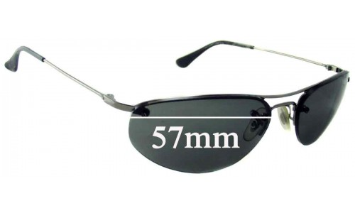 Sunglass Fix Sunglass Replacement Lenses for Ray Ban RB3155 - 57mm Wide
