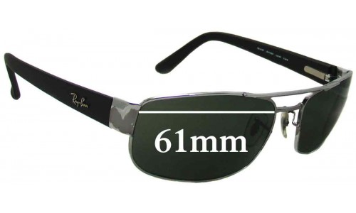 Sunglass Fix Sunglass Replacement Lenses for Ray Ban RB3188 - 61mm Wide