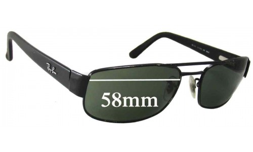 Sunglass Fix Sunglass Replacement Lenses for Ray Ban RB3188 - 58mm Wide