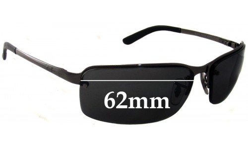 Sunglass Fix Sunglass Replacement Lenses for Ray Ban RB3217 - 62mm Wide