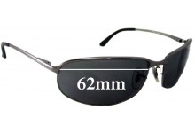 Sunglass Fix Sunglass Replacement Lenses for Ray Ban RB3220 - 62mm Wide