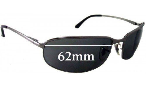 Sunglass Fix Sunglass Replacement Lenses for Ray Ban RB3220 - 62mm wide lenses