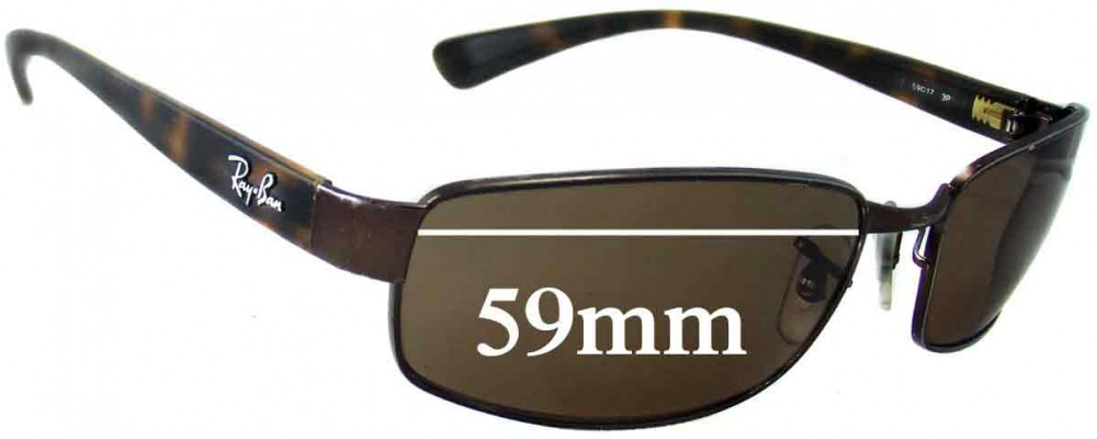 Sunglass Fix Sunglass Replacement Lenses for Ray Ban RB3364 - 59mm Wide