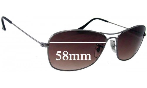 Sunglass Fix Sunglass Replacement Lenses for Ray Ban RB3388 - 58mm wide