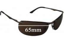 Sunglass Fix Sunglass Replacement Lenses for Ray Ban RB3390 - 65mm Wide *These lenses have a smaller hole on the nose area*