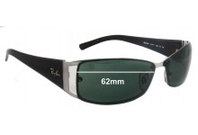 Sunglass Fix Sunglass Replacement Lenses for Ray Ban RB3394 - 62mm Wide