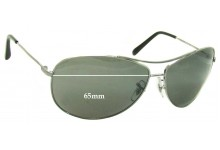 Sunglass Fix Sunglass Replacement Lenses for Ray Ban RB3454-E - 65mm Wide