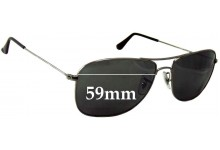 Sunglass Fix Sunglass Replacement Lenses for Ray Ban RB3477 - 59mm Wide
