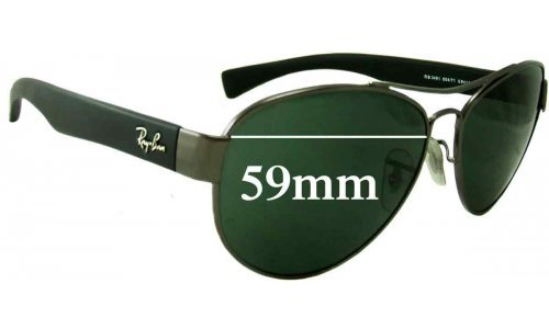 Sunglass Fix Sunglass Replacement Lenses for Ray Ban RB3491 - 59mm wide