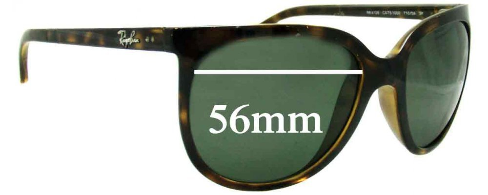 Sunglass Fix Sunglass Replacement Lenses for Ray Ban RB4126 - 56mm Wide