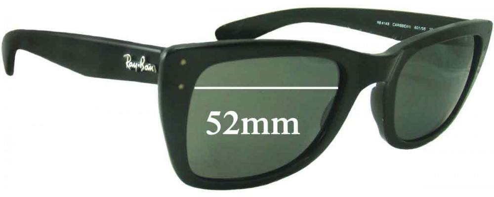 abdf3ddd66 Sunglass Fix Sunglass Replacement Lenses for Ray Ban RB4148 Caribbean -  52mm Wide