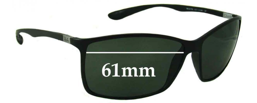 ray ban sun  Ban RB4179 Liteforce Sunglass Replacement Lenses - 61mm wide