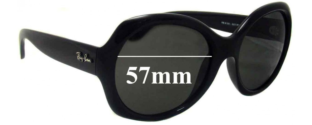 Sunglass Fix Sunglass Replacement Lenses for Ray Ban RB4191 - 57mm Wide
