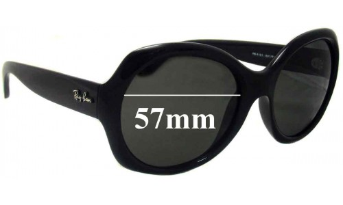 Sunglass Fix Sunglass Replacement Lenses for Ray Ban RB4191 - 57mm wide lenses