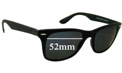 Sunglass Fix Sunglass Replacement Lenses for Ray Ban RB4195 Liteforce - 52mm Wide