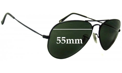 Sunglass Fix Sunglass Replacement Lenses for Ray Ban RB6049 Aviator - 55mm wide