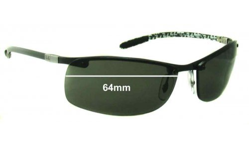 Sunglass Fix Sunglass Replacement Lenses for Ray Ban Tech RB8305 - 64mm Wide - Professional Install Recommended