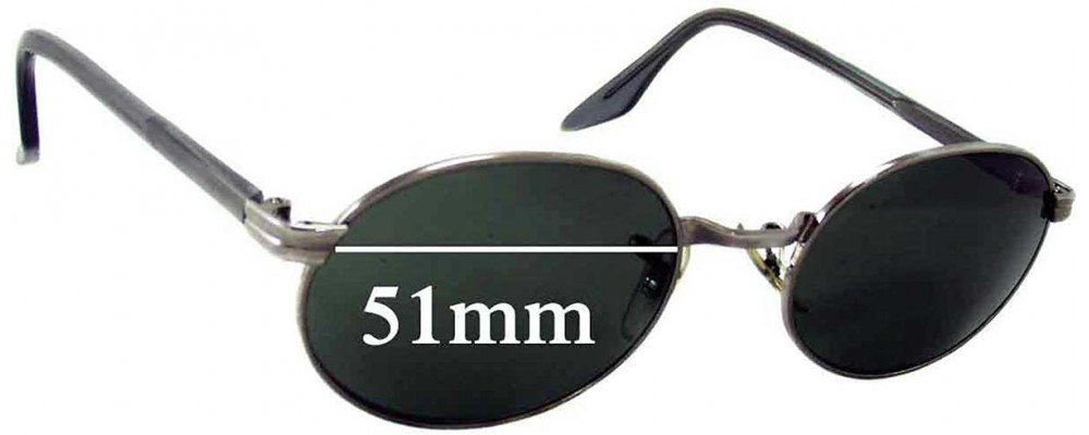 Sunglass Fix Sunglass Replacement Lenses for Ray Ban B&L W2319 - 51mm Wide