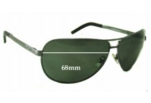 Sunglass Fix Sunglass Replacement Lenses for R.M. Williams Flinders PA737 - 68mm Wide