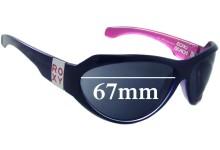 Sunglass Fix Sunglass Replacement Lenses for Roxy Echo Beach - 67mm Wide