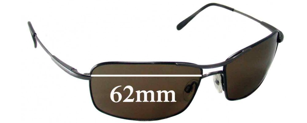 d138be5bb7 Sunglass Fix Sunglass Replacement Lenses for Serengeti Dante - 62mm Wide