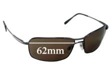 Sunglass Fix Sunglass Replacement Lenses for Serengeti Dante - 62mm Wide