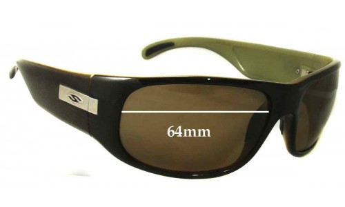 Sunglass Fix Sunglass Replacement Lenses for Smith Mogul - 64mm Wide