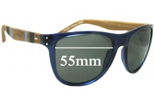 Sunglass Fix Sunglass Replacement Lenses for Tommy Hilfiger / Specsavers TH Sun RX 08 - 55mm Wide