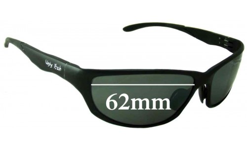 Sunglass Fix Sunglass Replacement Lenses for Ugly Fish PT24234 - 62mm Wide