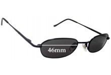Sunglass Fix Sunglass Replacement Lenses for Unknown Unidentified - 46mm Wide